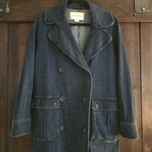 Anthropologie denim peacoat